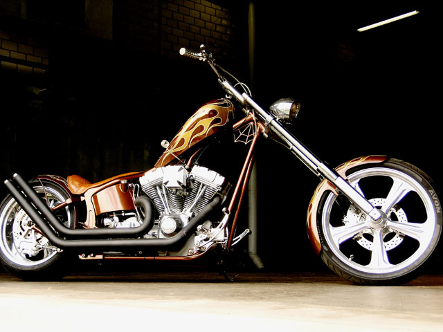 Radja's Chopper by Mayhem-Kustomz.