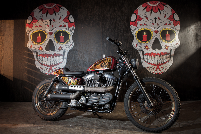 Sportster Tracker Style by Mayhem-Kustomz